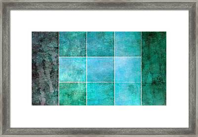 3 By 3 Ocean Framed Print