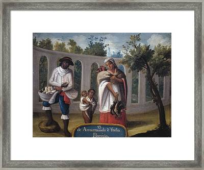 Cabrera, Miguel 1695-1768. Mixed Races Framed Print by Everett