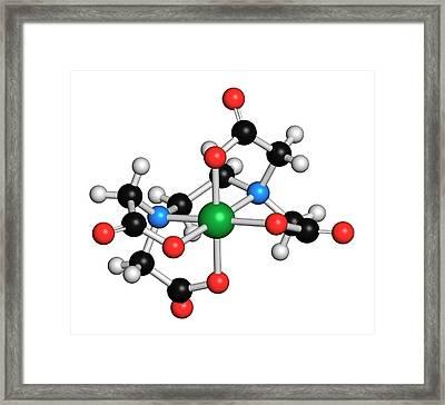 Calcium Edetate Drug Molecule Framed Print by Molekuul