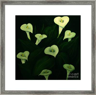 Framed Print featuring the painting Calla Lilies by John Stuart Webbstock