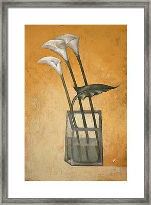 Callas Framed Print by Nicolay  Reznichenko