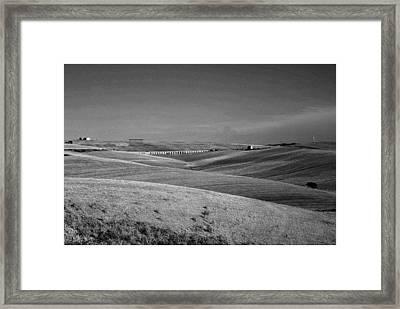 Tarquinia Landscape Campaign With Aqueduct Framed Print