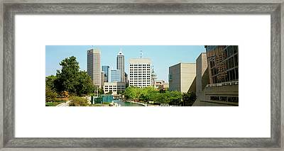 Canal In A City, Indianapolis Canal Framed Print