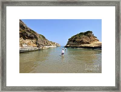 Canal Of Love Beach Framed Print