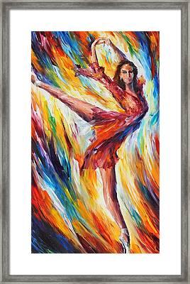 Candle Fire Framed Print by Leonid Afremov