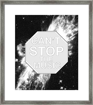 Can't Stop The Music Framed Print