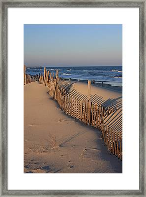 Framed Print featuring the photograph Cape Hatteras Dunes  by Mountains to the Sea Photo