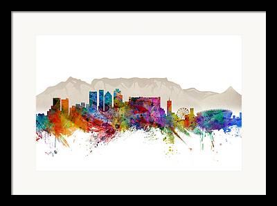 Cape Town Framed Prints