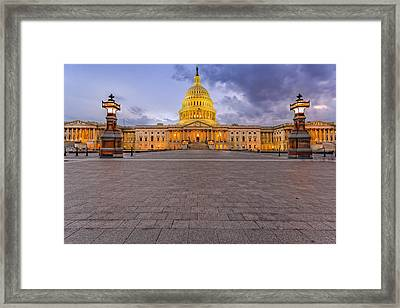 Framed Print featuring the photograph Capitol Building by Peter Lakomy