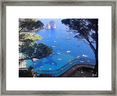 Framed Print featuring the photograph Capri by Ze  Di