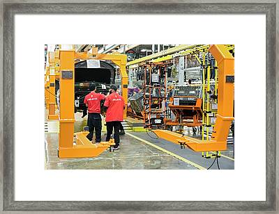 Car Assembly Production Line Framed Print