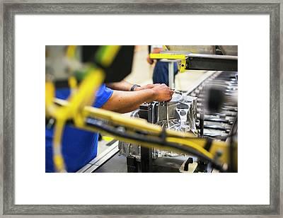 Car Transmission Plant Framed Print by Jim West