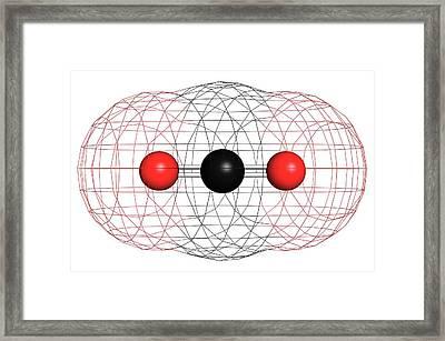 Carbon Dioxide Molecule Framed Print