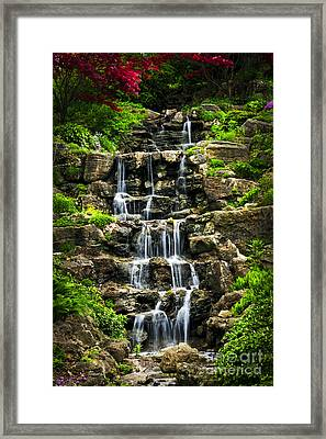 Cascading Waterfall Framed Print by Elena Elisseeva