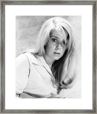 Catherine Deneuve In Repulsion  Framed Print
