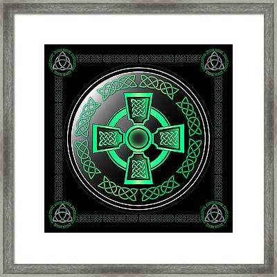 Celtic Cross Framed Print by Ireland Calling