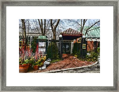 Central Park Boathouse Framed Print by Paul Ward