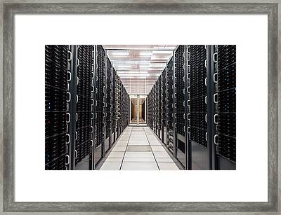Cern Computer Centre Framed Print by Cern
