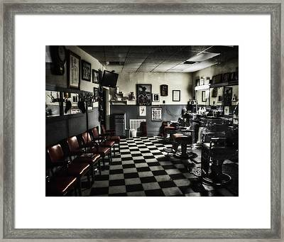 3 Chairs.  No Waiting. Framed Print by Martin Naugher