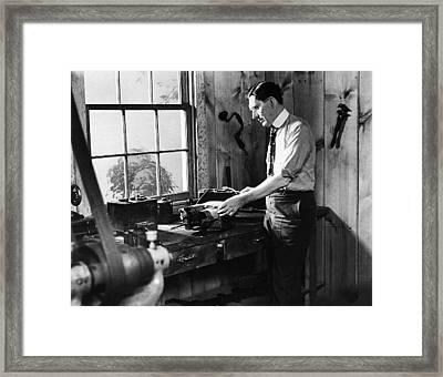 Charles F Framed Print