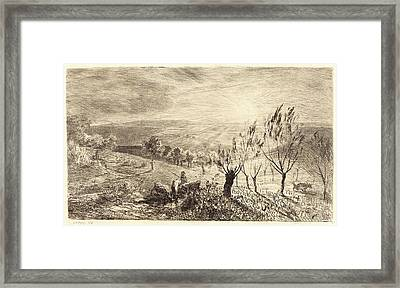 Charles-françois Daubigny, French 1817-1878 Framed Print by Litz Collection