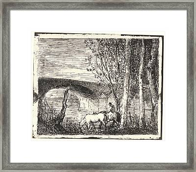 Charles François Daubigny French Framed Print by Litz Collection