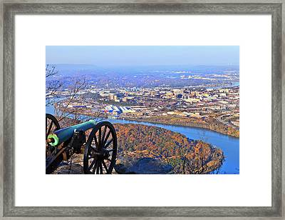 Chattanooga In Autumn Framed Print by Melinda Fawver