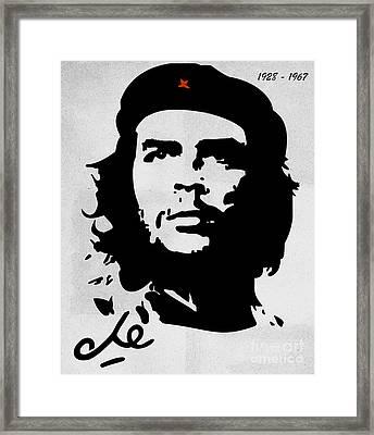 Che Guevara Framed Print by T Lang