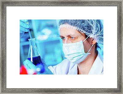 Chemical Research Framed Print