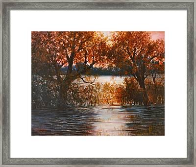 Cheney Sunset Framed Print