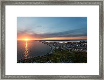 Chesil Beach  Framed Print by Ollie Taylor