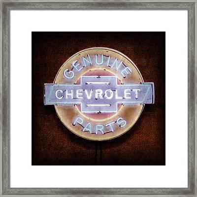 Chevrolet Neon Sign Framed Print