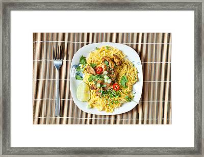 Chicken Noodles Framed Print
