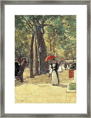 Fifth Avenue At Washington Square Framed Print by Childe Hassam