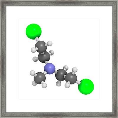 Chlormethine Cancer Chemotherapy Drug Framed Print