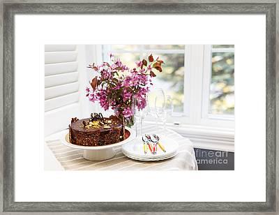 Chocolate Cake Framed Print by Elena Elisseeva