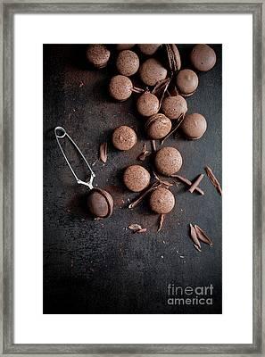 Chocolate Macaroons Framed Print by Kati Molin