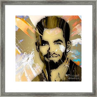 Chris Pine Collection Framed Print by Marvin Blaine