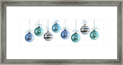 Christmas Ornaments Framed Print by Elena Elisseeva