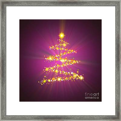 Christmas Tree Framed Print by Atiketta Sangasaeng