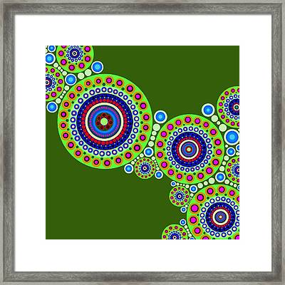 Circle Motif 119 Framed Print by John F Metcalf