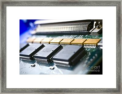 Circuit Board Components Framed Print