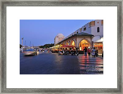 City Of Rhodes During Dusk Time Framed Print by George Atsametakis
