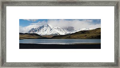 Clouds Over Snowcapped Mountains Framed Print by Panoramic Images
