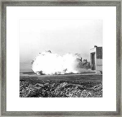 Coal Dust Explosion Experiment Framed Print by Crown Copyright/health & Safety Laboratory Science Photo Library