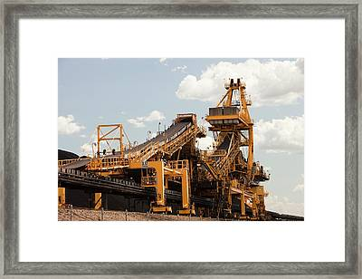 Coal Moving Machinery Framed Print