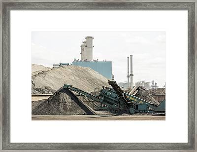 Coal On The Docks In Hull Framed Print