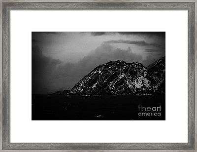 Coast Of The Norwegian Sea  During Winter Norway Europe Framed Print by Joe Fox