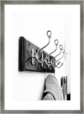 Coat Hooks Framed Print by Tom Gowanlock