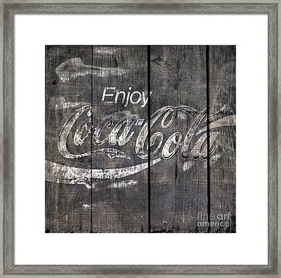 Coca Cola Sign Framed Print by John Stephens